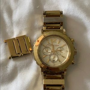 Gold tone Michael Kors watch